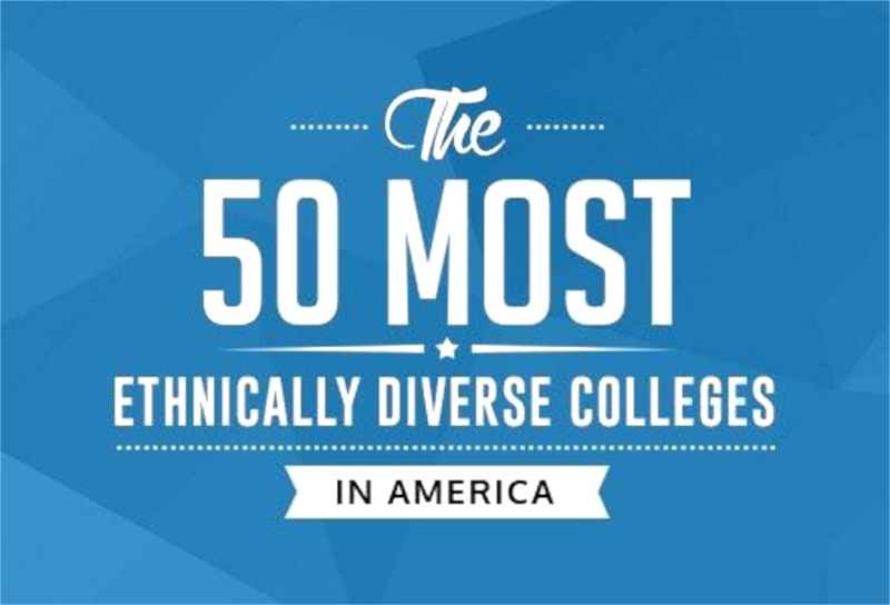 50 Most Ethnically Diverse Colleges in America Badge