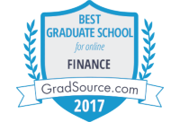 Best Graduate School for Online Finance Badge