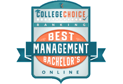 College Choice Best Online Management Bachelors Online Badge