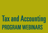 Tax And Accounting Webinar
