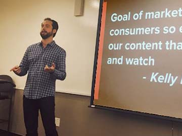 Netflix Marketing Expert Talks Shop with Students in a GGU Business Analytics Class